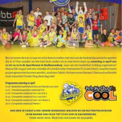 Open dag Afdeling basketbal SV Christofoor op zaterdag 21 april 12.00-15.00 uur in de Sporthoeve